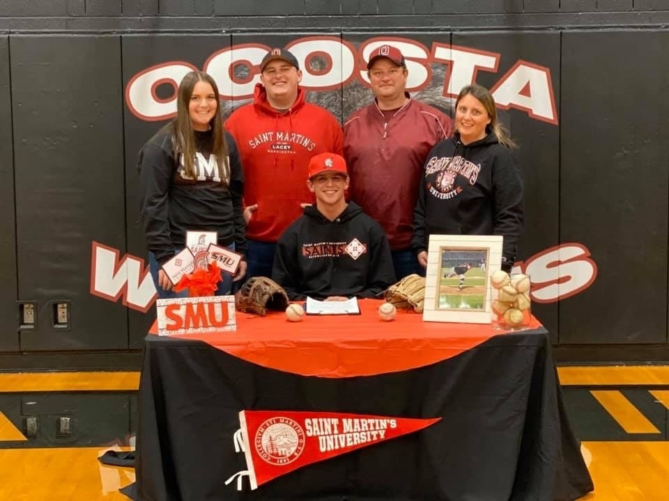 Cole Hatton Signs Letter of Intent with St. Martin's University