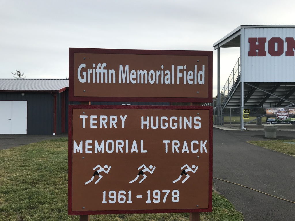 Griffin Memorial Field  and Terry Huggins Memorial  Track Sign